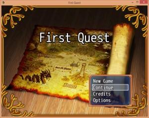 First Quest menu